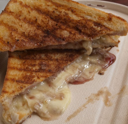 Brie + Jam + Heat = Messy, Melty Toastie Deliciousness