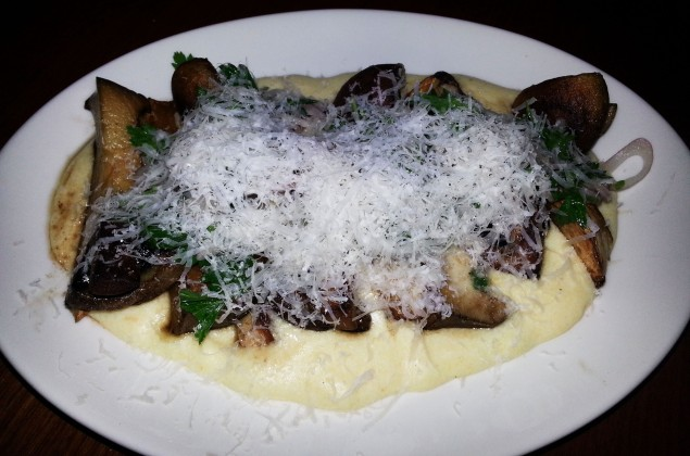 Mushies N Polenta: A Match Made In Heaven (If Heaven Were Wood Fired)