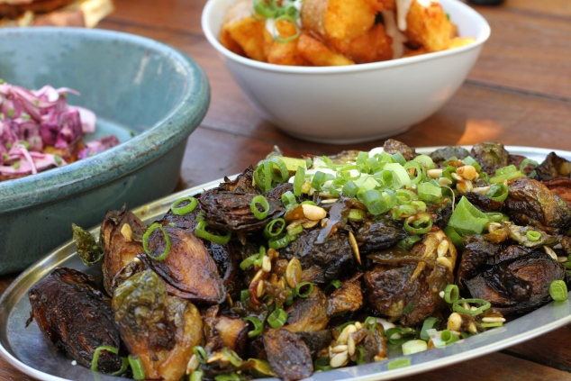 The Brussels Sprouts: Crispy Fried Deliciousness Coated In Green Chilli Jam