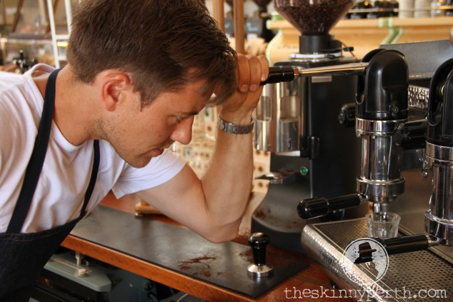 Head Barista Darren Gets Up Close And Personal With A Lever Style Espresso Machine