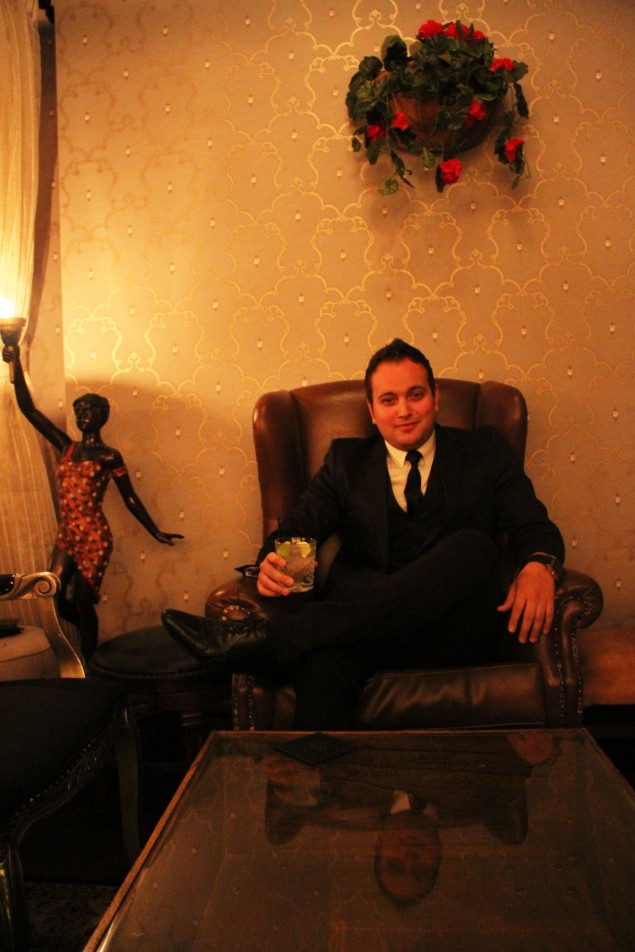 Lounging In Style: The Laneway Lounge's Fernando Lima Looking More Than Comfortable In His Natural Environment