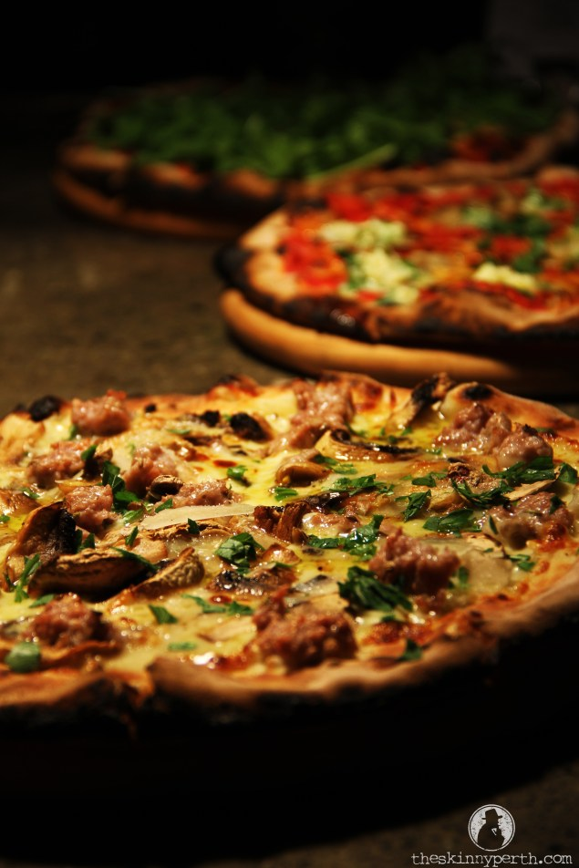 Triple Pizza Party: Our Pizzas (From Front To Back) - The Salsiccia, Pizza Of The Day And The Pera